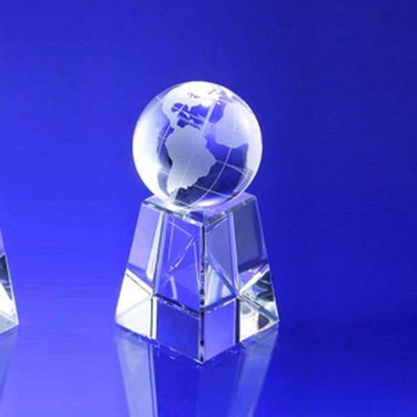 """Award-Globe w/ Tall Base 8"""""""