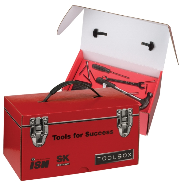 2 Colors Full Coverage - E-flute Corrugated Toolbox With Inside Tray Photo