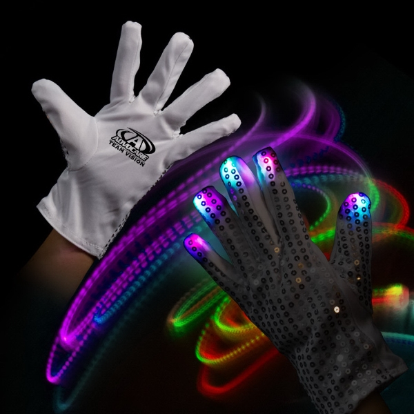 Light Up LED Glow Left Hand Rock Star Glove