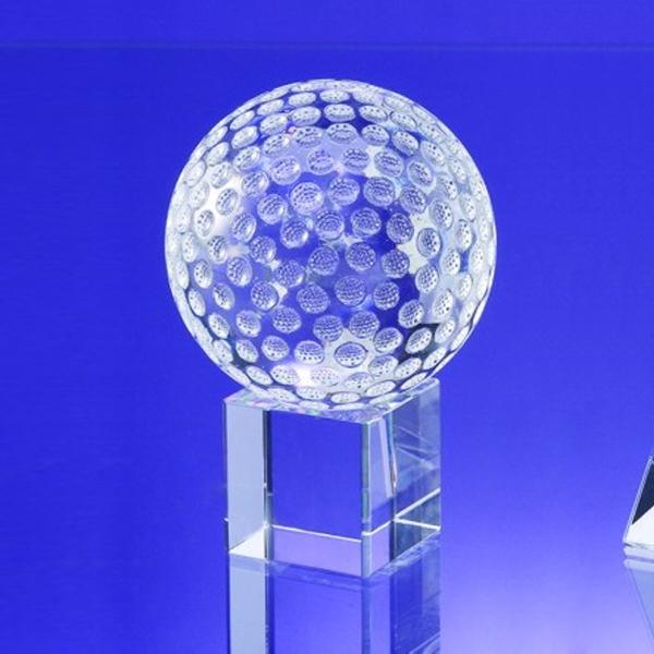 """Award-Golf Ball on Cube 4 1/2"""""""