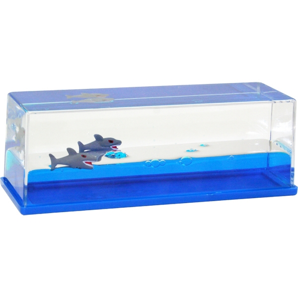 Liquid Wave Paperweight With Floating Shark Inserts Photo