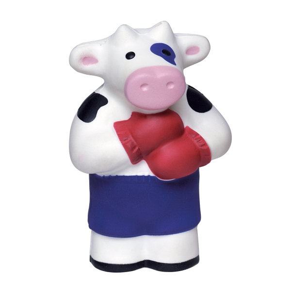 Squeezies (r) - Boxing Cow Character Cow Shape Stress Reliever Photo