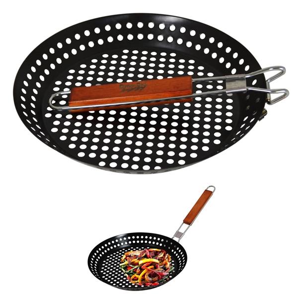 BBQ SKILLET PAN W/ FOLDING HANDLE