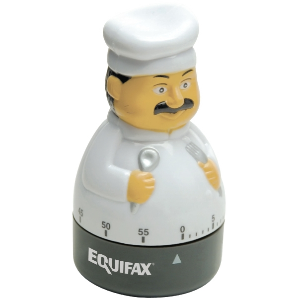 Gourmet Chef Shaped 60 Minute Winding Timer With Bell Alarm Photo