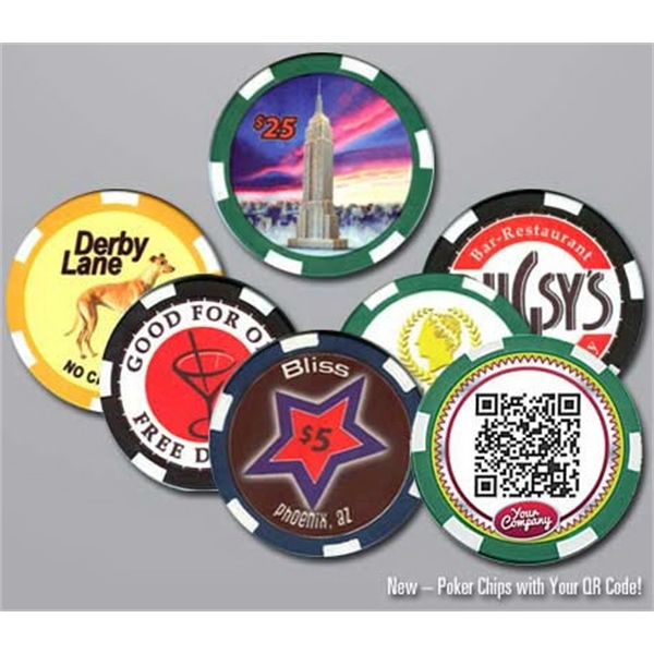 Custom Imprinted Ceramic Poker/casino Chips With Any Design You Choose Photo