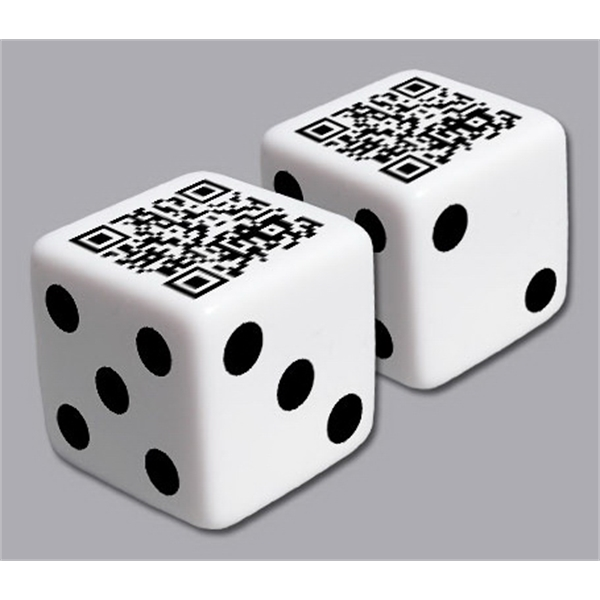 "Custom 1"" Dice With Your Qr Code On One Or More Sides Photo"