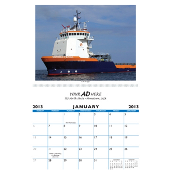 "Custom 11"" X 17"" Calendar With 13 Full Color Photos. Heavy 80# Gloss Cover With Uv Photo"