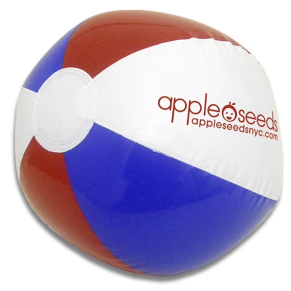 "16"" Red, White And Blue Beach Ball Photo"