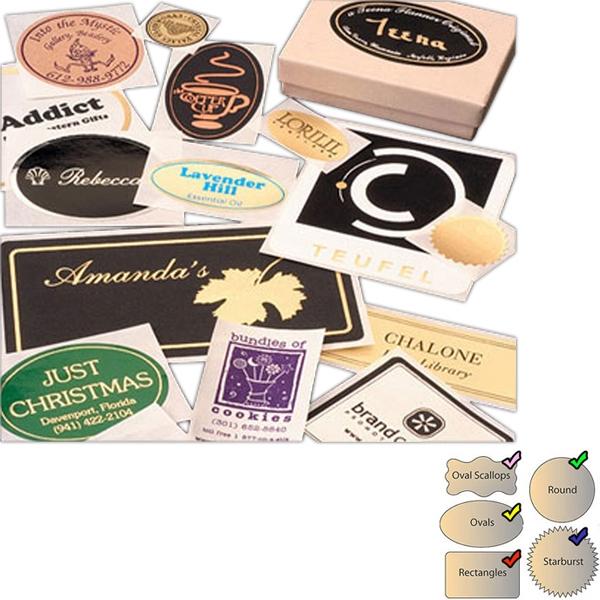 Foil Hot Stamped Rectangle Labels