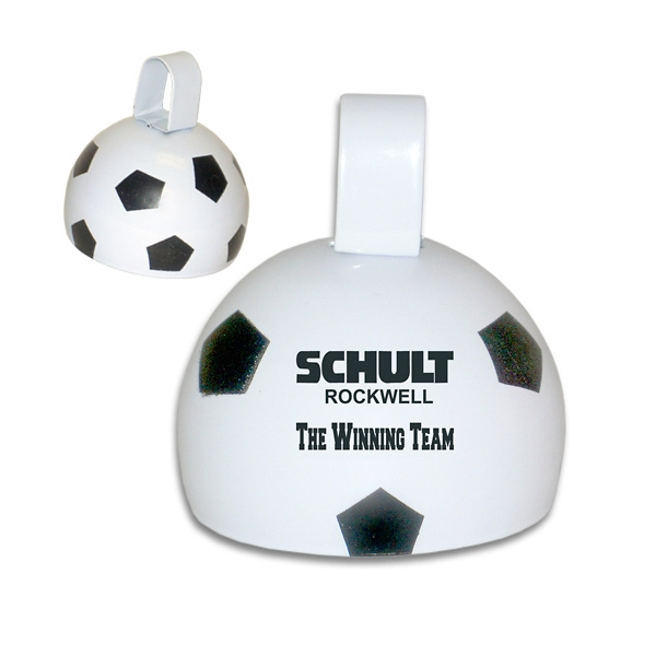 "Large 4"" Metal Soccer Ball Bell Photo"