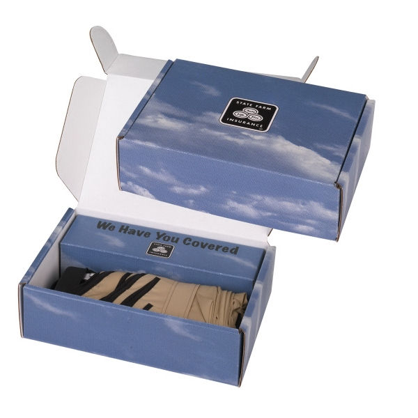 1 Color Copy On Lid Only - Compact Umbrella Box With Built-in Tray Photo
