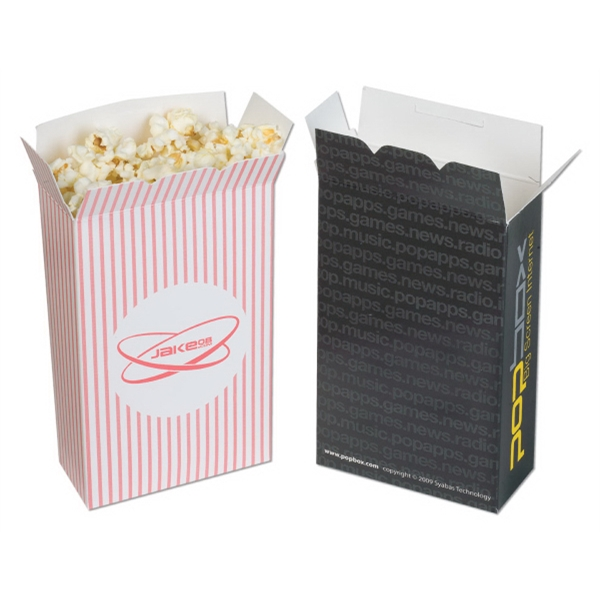 "No Imprint - Chipboard Popcorn Box, 4 1/2"" X 7"" X 2"" Photo"