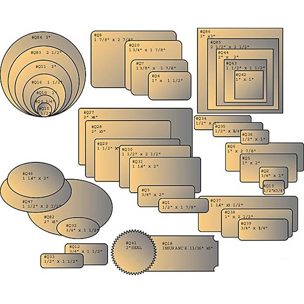 Rectangle Blank Label