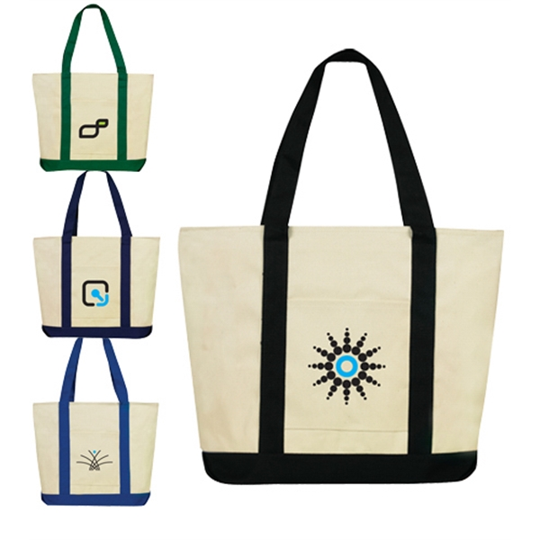 Riverbank canvas tote bag