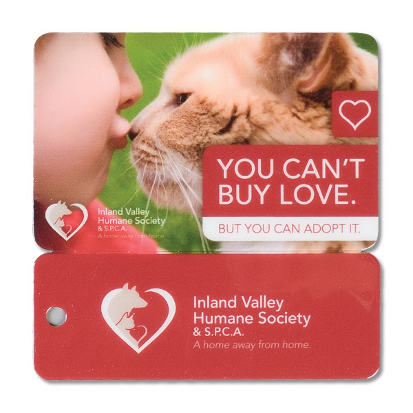 Loyalty Card With Removable Key Tag. .030 Material Thickness Photo