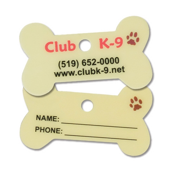 Dog Bone Keytag/pet Tag. Durable Finish, .030 Thickness Photo