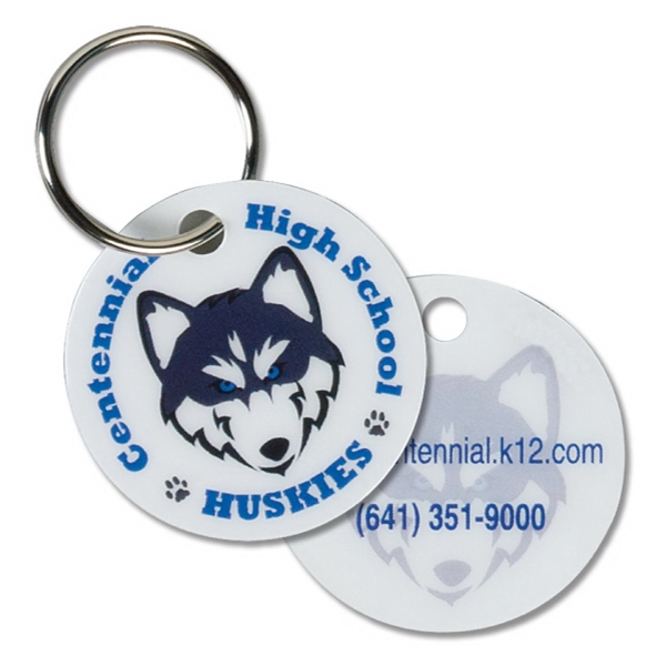 Circle Keytag/pet Tag/zipper Pull Photo