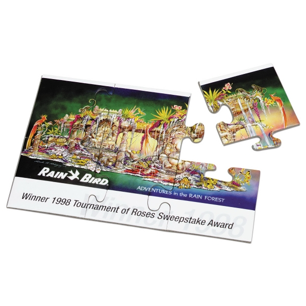 "Shrink Wrapped - Assembled - 6 Piece Puzzle, 4"" X 6"" Photo"