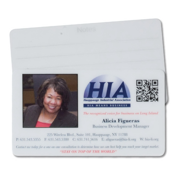 Heavy Laminated Business Card Photo