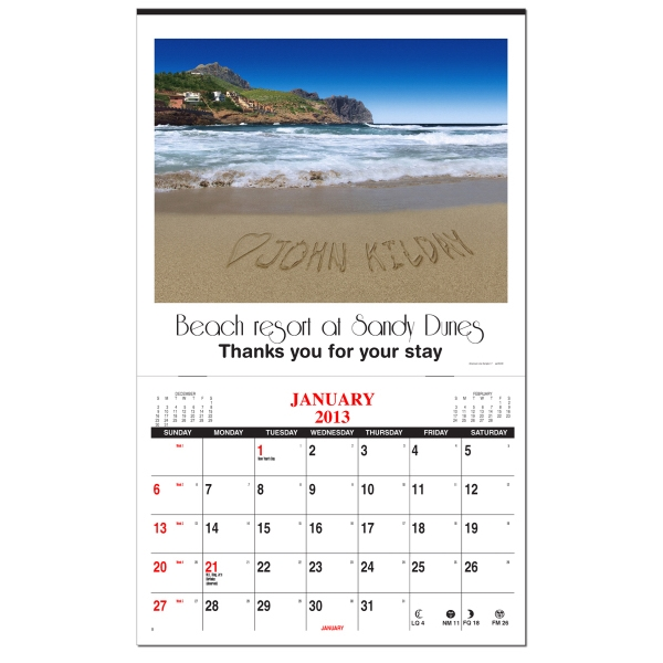 In The Image - Personalized Wall Calendar With 1 Image, Variable Data Printing Photo