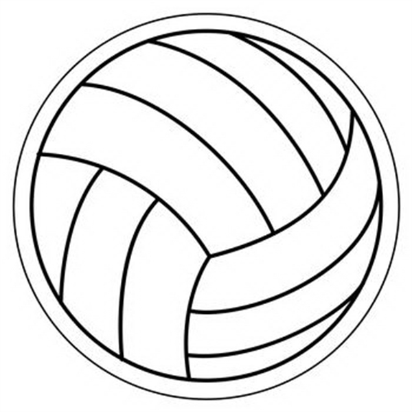 Volleyball Stock Shape Magnet