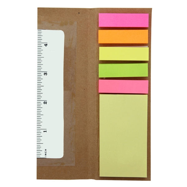 Imperial (r) - 50 Working Days - Sticky Note Holder With Ruler Function Photo