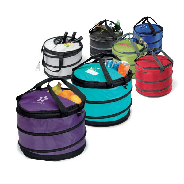 Black - Party Collapsible Party Cooler With Retractable Metal Bottle Opener Photo