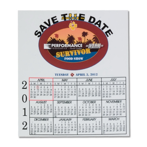 "Calendar Magnet - 3 1/2"" X 4"" Photo"