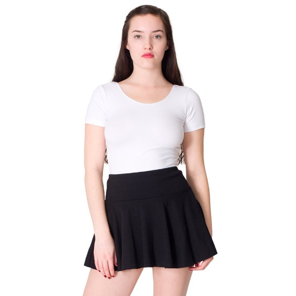 S- X L-white - Thick Knit Jersey Skirt. Blank Photo