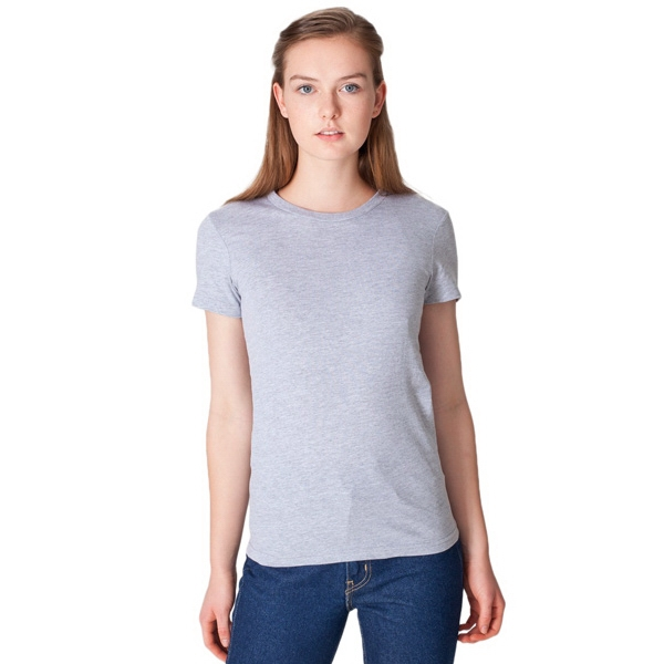 X S- X L-white - Ladies' 100% Cotton Fine Jersey Short Sleeve T-shirt. Blank Photo