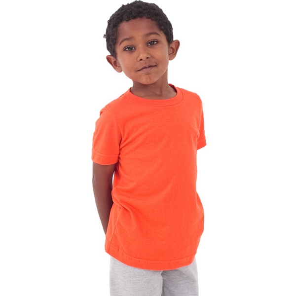 Colors - Kids Fine Jersey Short Sleeve T-shirt. Blank Photo