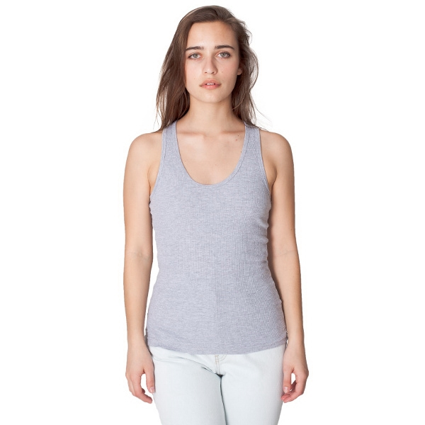 S- X L-white - Rib Racerback Tank. Blank Photo