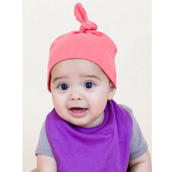 Organic Infant Baby Rib Hat. Blank Photo
