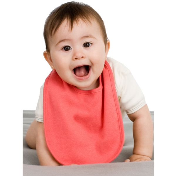 Organic Infant Baby Rib Reversible Bib. Blank Photo