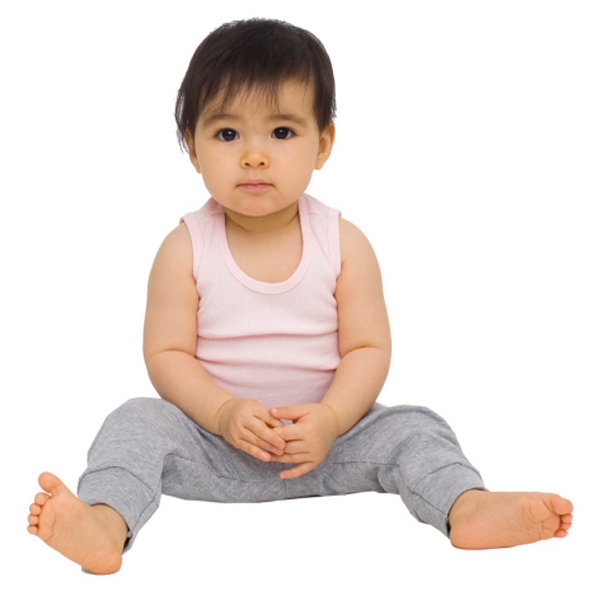 White - Infant Baby Rib Legging. Blank Photo
