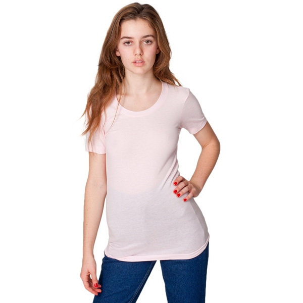 X S- X L-colors - Sheer Jersey Short Sleeve Women's Summer T-shirt Featuring Scoop Neck. Blank Photo