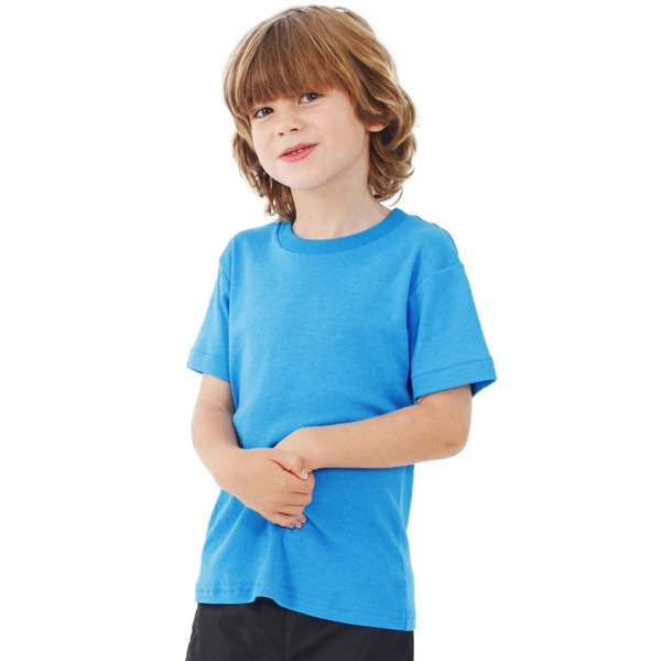 White - Kids Poly-cotton Short Sleeve T-shirt. Blank Photo