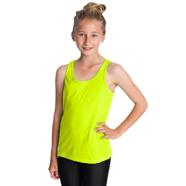 Youth Poly-cotton Tank. Blank Photo