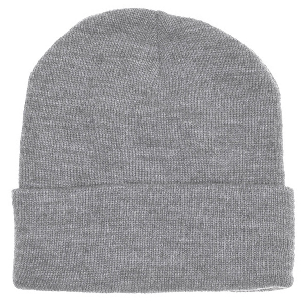 Cuffed Acrylic Lined Beanie. Blank Photo