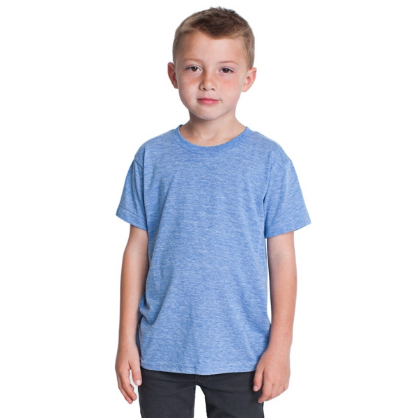 Youth Tri-blend Short Sleeve T-shirt. Blank Photo