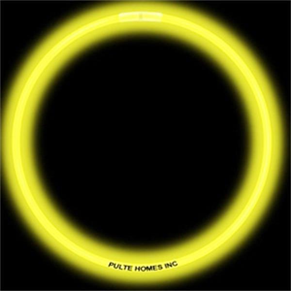 "Glow Bracelet - 8"" - Yellow - Yellow glow bracelet, measures 8""."