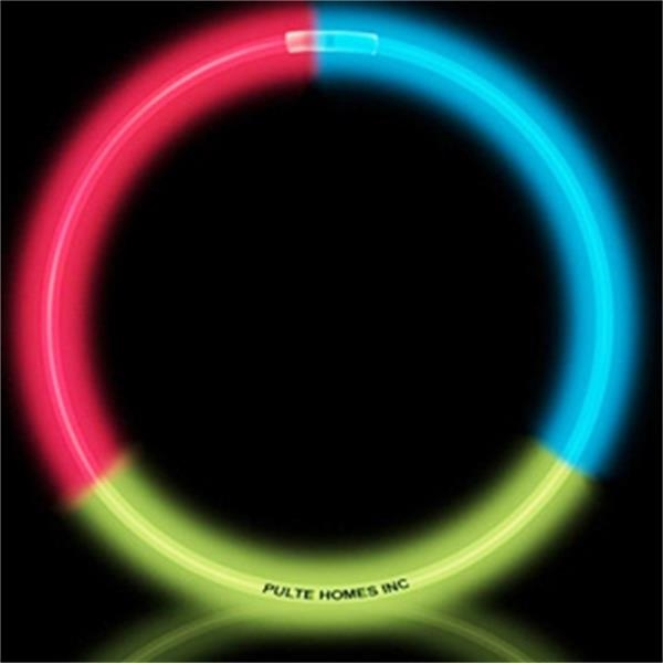 """Standard Glow Necklace - 22"""" - RGB - Red, green, and blue standard glow necklace, 22""""."""