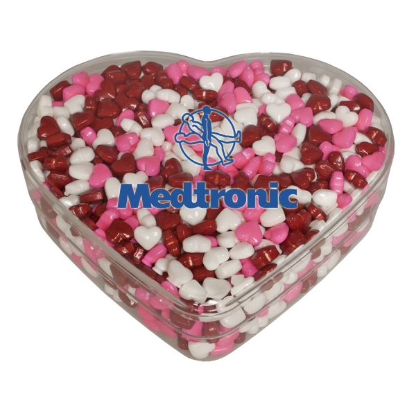 Food Gifts Superstore - Our Clear Acrylic Heart Show Piece Is Filled With Hearts. A Valentine's Day Special Photo