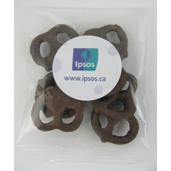 1oz. Milk Chocolate Mini Pretzels Goody Bag