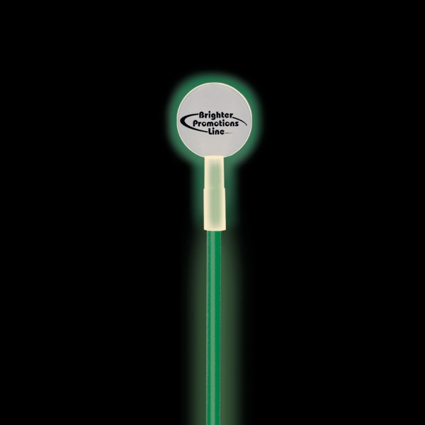 Round Glow Swizzle Stick Topper Photo