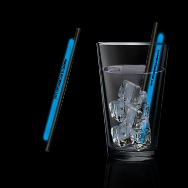 """Blue 5"""" Light Up Glow Straw"""