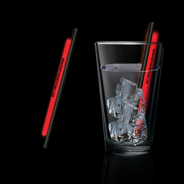 "Red 5"" Light Up Glow Straw"