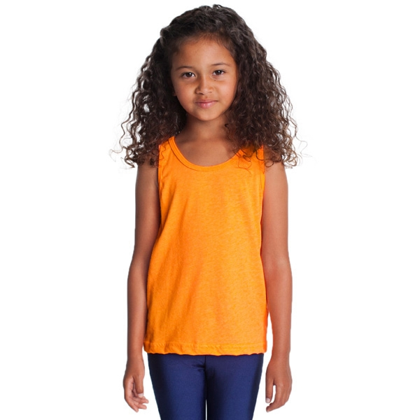 Kids Poly-cotton Tank. Blank Photo