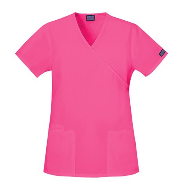 Cherokee - Workwear Mock Wrap Top - 23 Colors Available Photo