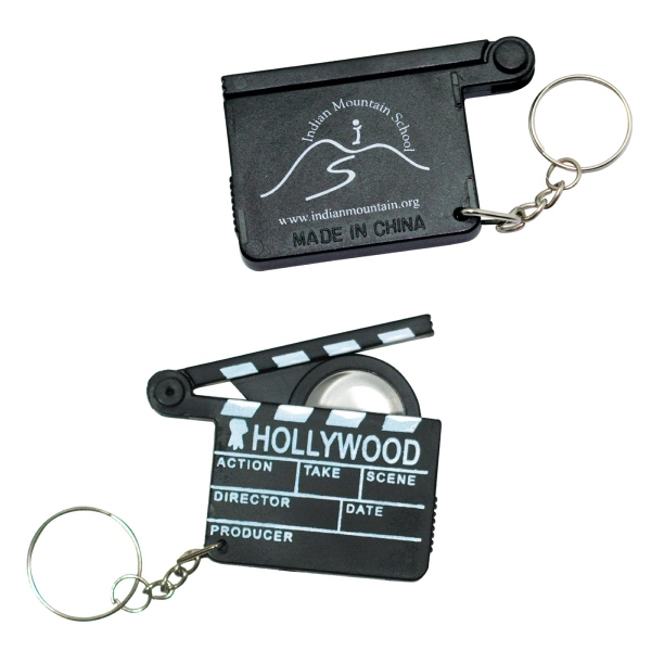 Hollywood Clapboard Design Key Holder With Magnifier Photo